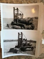 2 Vintage Caterpillar Tractor Lift Bucket Loader Photographs
