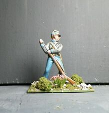 1/32 CONFEDERATE SOLDIER #17- Hand Painted Based- 54mm    Plastic -_  ACW - AIP