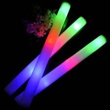 "100pc Light Up LED Multi Color Foam Sticks 16"" Rave Batons Glow Sticks"