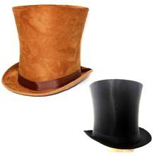 TALL DELUXE TOP HAT VICTORIAN STEAMPUNK HALLOWEEN FANCY DRESS COSTUME BELL HAT