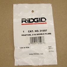 Genuine RIDGID 31597 Adaptor, 3/16 Double Flare
