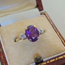 Unbranded Engagement Natural Amethyst Fine Rings