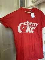ASOS Coca Cola Nightie Sleeping Dress Sleep Tee Cherry Coke Size 22