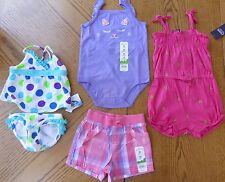 New Summer Girl 24 m Clothes LOT Jumper Shorts Pink Purple Swimsuit $68 rv NWT
