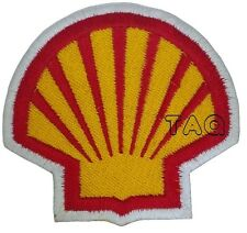shell Iron Sew on Embroidered Patch Logo oil petrolium petrol BADGE 209