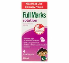 Full Marks Lice Treatment Solution 200ML Clinically Proven To Kill Head Lice