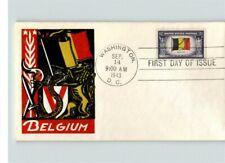 BELGIUM, Overrun Country in World War II, 1943 thermograph Smartcraft cachet, Fi