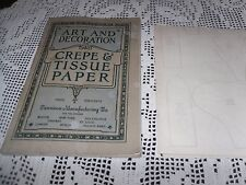 ANTIQUE RARE DENNISON HALLOWEEN CHRISTMAS ART & DECORATION CREPE TISSUE 1914