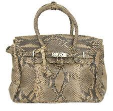 Handmade Genuine Python Skin Brown Tote Handbag RRP £500