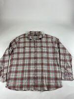 Patagonia Sz XL Red Plaid L/S Textured Button Shirt