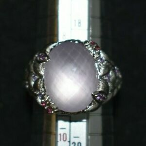 STERLING SILVER ROUND AMETHYST FLORA RING BY JUDITH RIPKA SIZE 9