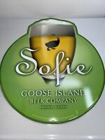 "Sofie Goose Island Beer Co. Metal Tin Sign 22"" tall"