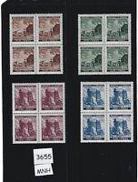 Complete MNH Stamp block set / 1941 Third Reich / Prague Fair / WWII Germany