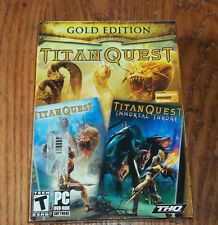 Video Game PC Titan Quest & Immortal Throne Gold Edition NEW SEALED BOX