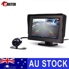 "Car Rear View Kit 4.3"" TFT LCD Monitor +HD IR Night Vision Reversing Camera 170°"