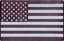 AMERICAN USA FLAG BLACK REFLECTIVE MC Club Biker Vest Fun BACK Patch! LRG-0410