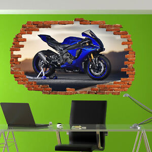 SUPER FAST YZF SPEED MOTORBIKE POSTER STICKER 3D ART MURAL OFFICE HOME DECOR UC9