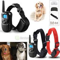 Waterproof 1000 Yard 2 Dog Shock Training Collar Pet Trainer +Remote 4 Modes USA