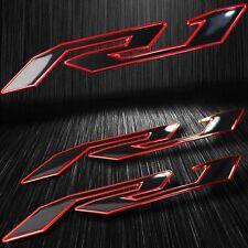 "5-3/4"" Emblem 3D Decal Fender/Fairing Logo Sticker YZF-R1/R1S Black/Chromed Red"