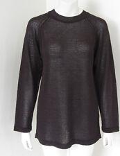 ISSEY MIYAKE PERMANANTE Womens Brown Loose Weave Mesh Knit Sweater Sz M