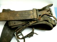 Vintage Lineman's Pole Climbers Safety Belt, LC-23-B 9918-Phil-43 For Display