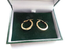 Hoops Earrings Yellow Gold Vintage Fine Jewellery