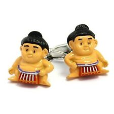 Sumo Wrestler Fighting Asian Cufflinks + Box & Cleaner