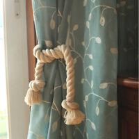 Cotton Rope Curtain Tie Back Window Tieback Holdback Drapery Holder Home DB