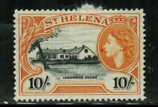 St.Helena QEII 1953 SC#152 MH 10/- STAMP,HCV