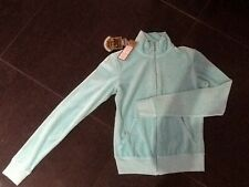 """NWT  Juicy Couture New & Gen. Ladies Small Turquoise Velour Jacket & """"J"""" Pull"""