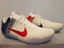 Nike Kobe XI 11 Elite Low USA [US9] 822675184 White/University Red - Deep Royal
