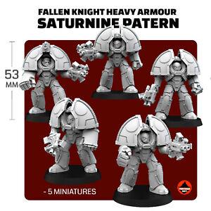 Fallen Knights in Heavy Armour/ MKI Saturnine Pattern Terminator Armour