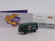 """Brekina 32058 # Volkswagen VW Bus T1a Kasten dunkelgrün """" Spar Frischdie. """" 1:87"""