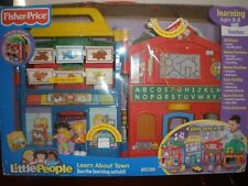 NEW Fisher Price Little People Learn About Town School Village City RARE