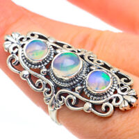 Large Ethiopian Opal 925 Sterling Silver Ring Size 8 Ana Co Jewelry R61037F