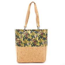 Natural Cork Eco Vegan Tote Bag Jungle Print