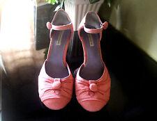 MODA dainty stitch-detail suede maryjane shoes, size7