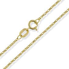 "375 9CT GOLD 16"" 18"" 20"" ROUND DIAMOND CUT BELCHER CHAIN LINK NECKLACE GIFT BOX"