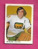 RARE 1973-74 WHA QUAKER OATES COUGARS JIM MCLEOD GOALIE MINI CARD (INV# C7012)