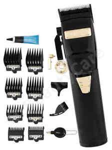 BaByliss Pro BLACKFX Lithium Black/Gold Barber Hair Clipper/BabylissPro Trimmer