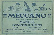 Catalogue MECCANO 1918 catalogo katalog jouet ancien vintage toy TRES RARE