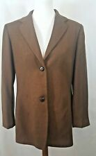 Joseph Abboud Brown Lana and Cashmere Wool Women's Blazer Size 12