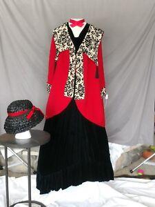 Victorian Dress Edwardian Civil War Style Walking Suit