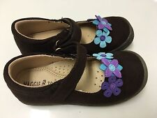 Maggie & Zoe Girls Brown Purple Mary Jane Shoes Size 11 NWB Arch Support