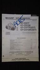 sharp qt-cd77 cd130 cd77c Service Manual Original cd boombox radio ghettoblaster