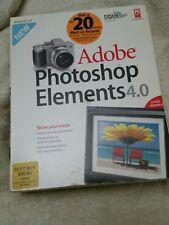 NEW SEALED BOX ADOBE Photoshop Elements 4.0 Digital Imaging Software Windows XP