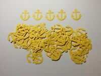 """Nautical Anchors Confetti Lot of 150 Die Cuts Yellow 1"""" H"""