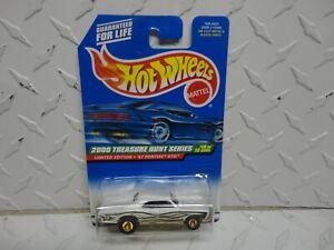 2000 Hot Wheels Treasure Hunt #58 White '67 Pontiac GTO w/Real Riders
