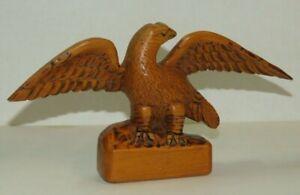 VINTAGE WOOD EAGLE CARVING / B. BRYAN '69 /  1-6B