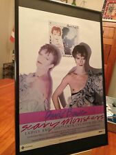 "2 Big 11X17 Framed David Bowie ""Scary Monsters"" Lp Album Cd Promo Ads + bonus!"